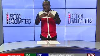 Nana Akufo Addo wins - Election HQ Projection on Joy News (9-12-16)