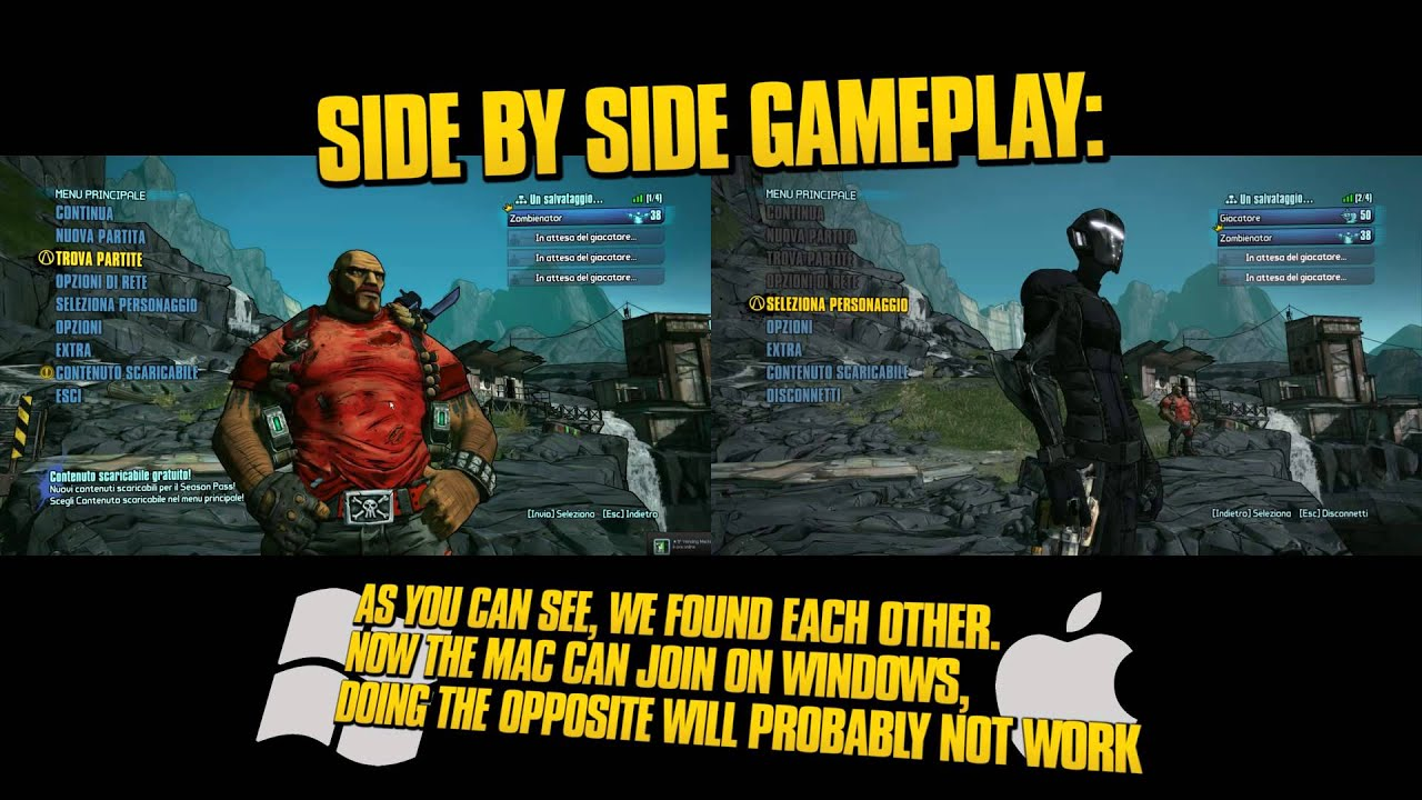 How to play Borderlands 2 with Hamachi, cross-platform WIN + MAC