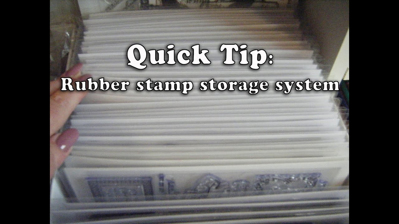 Rubber stamps for crafting - Quick Tip Easy Quick Cheap Crafting Rubber Stamp Storage
