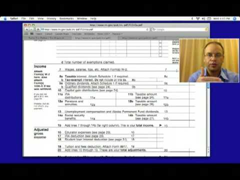 1040a Federal Income Tax Form For 2012 2013 Youtube