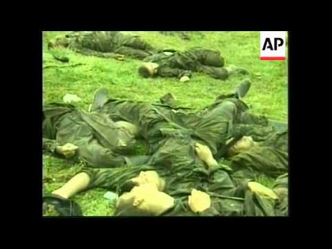 Columbia: Army Survivors And Victims Of FARC Attack - 1999