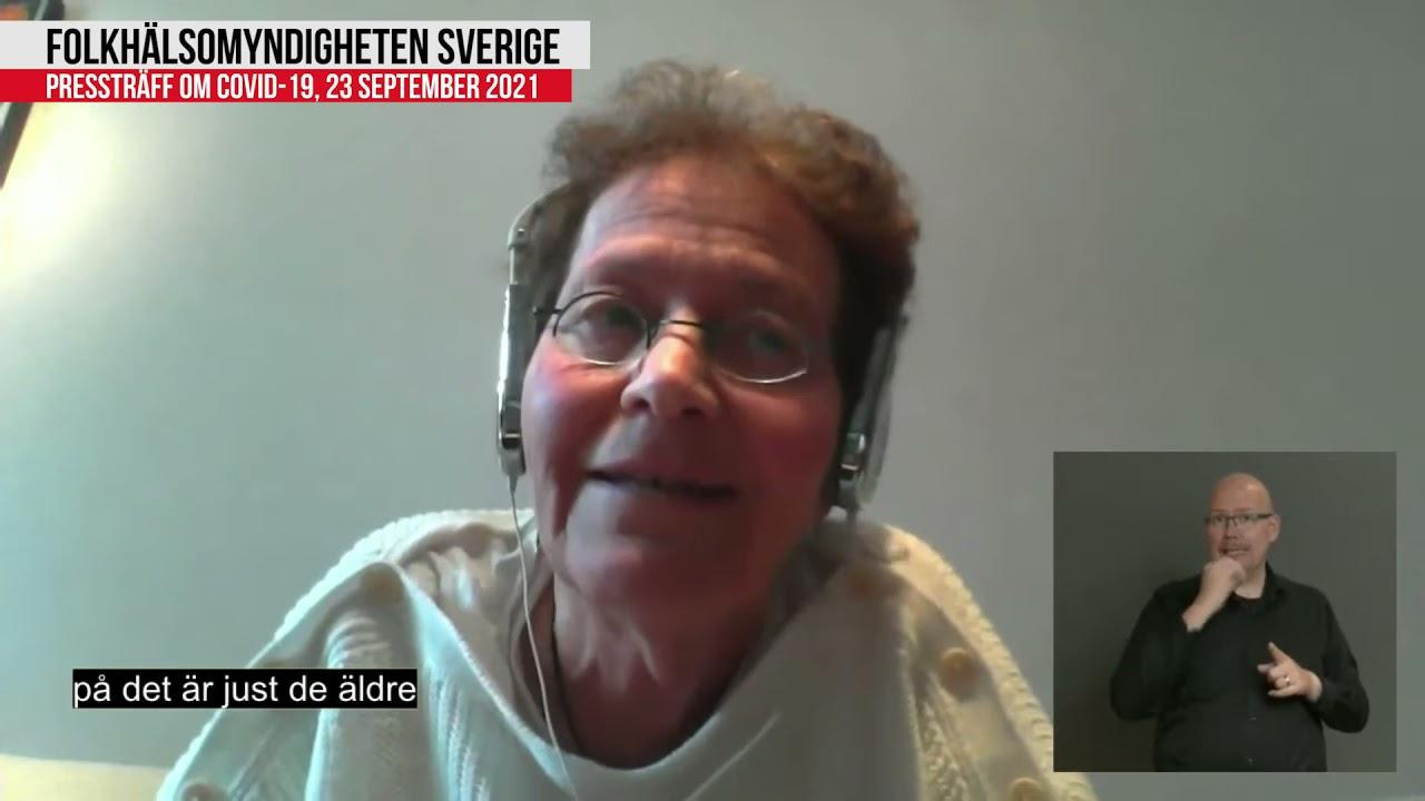 Presskonferens Folkhälsomyndigheten 2021-09-23 | Lena Einhorn