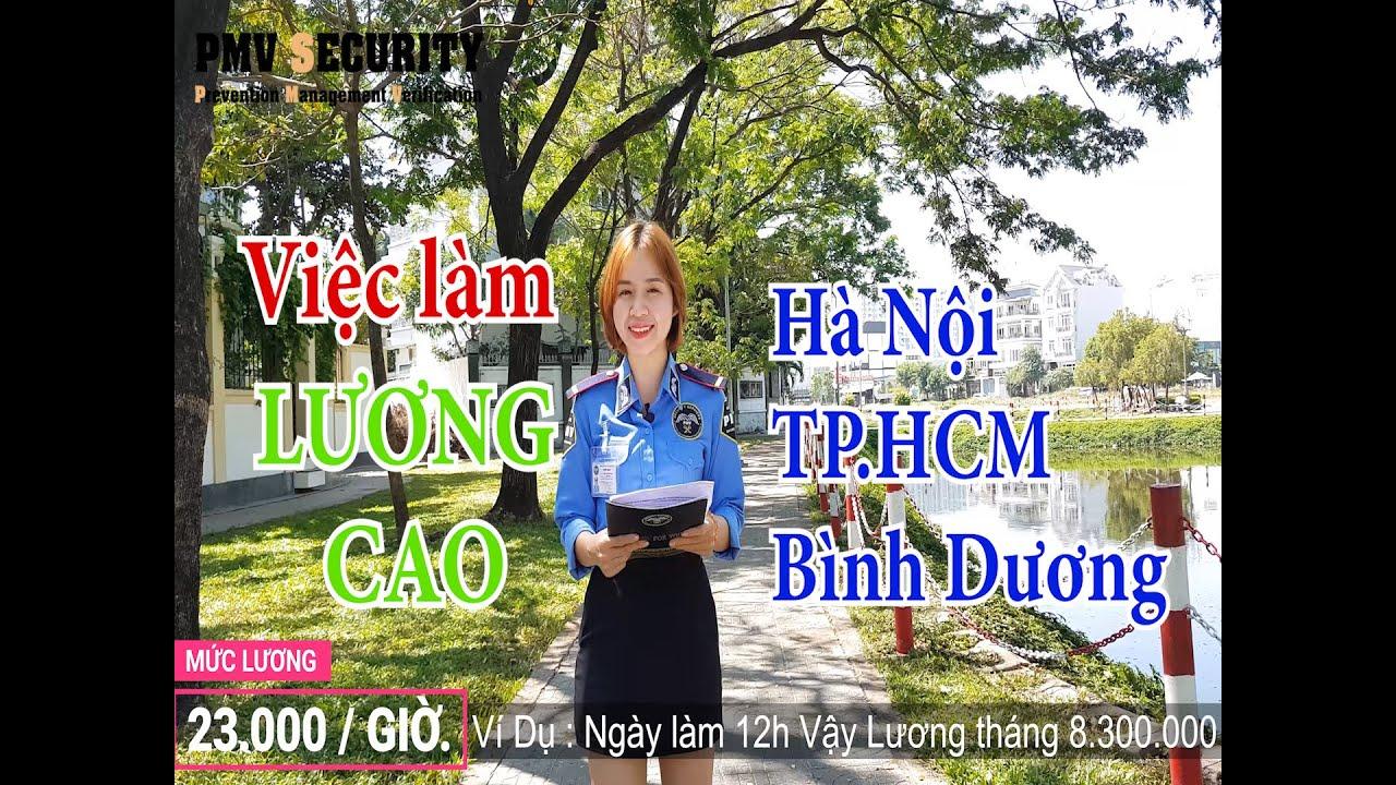 Việc làm bảo vệ lương cao tại Hà Nội, TP HCM, Bình Dương