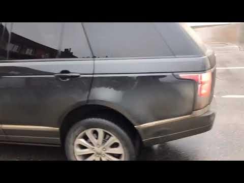 Грязный Range Rover и робот автомойка. Отмоет ли толстый слой грязи.