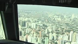 737-800 GOL cmt  CEZAR PULSCHEN POUSO CONGONHAS DETALHADO NO COCKPIT