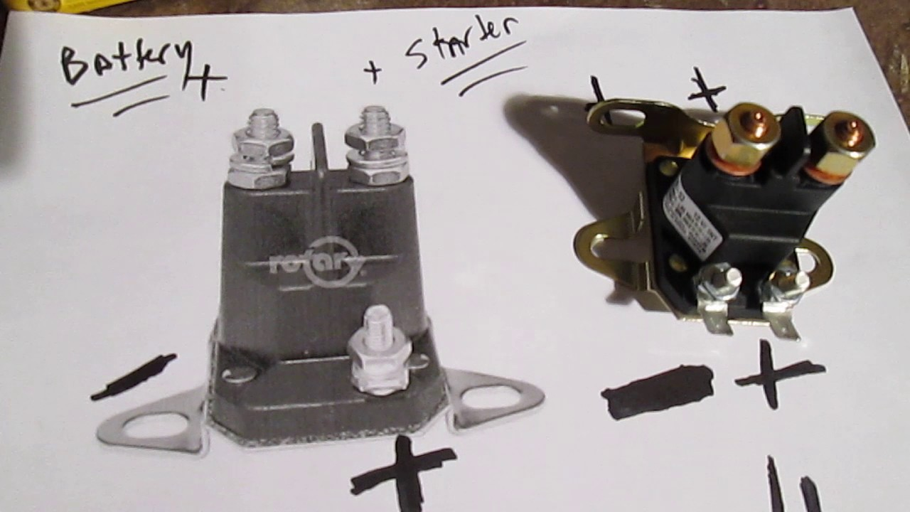 Easy Test Solenoid Riding Lawn Mower Tractor No Start - By P Starter  Post Solenoid Wiring Diagram Brigs And Stratton on