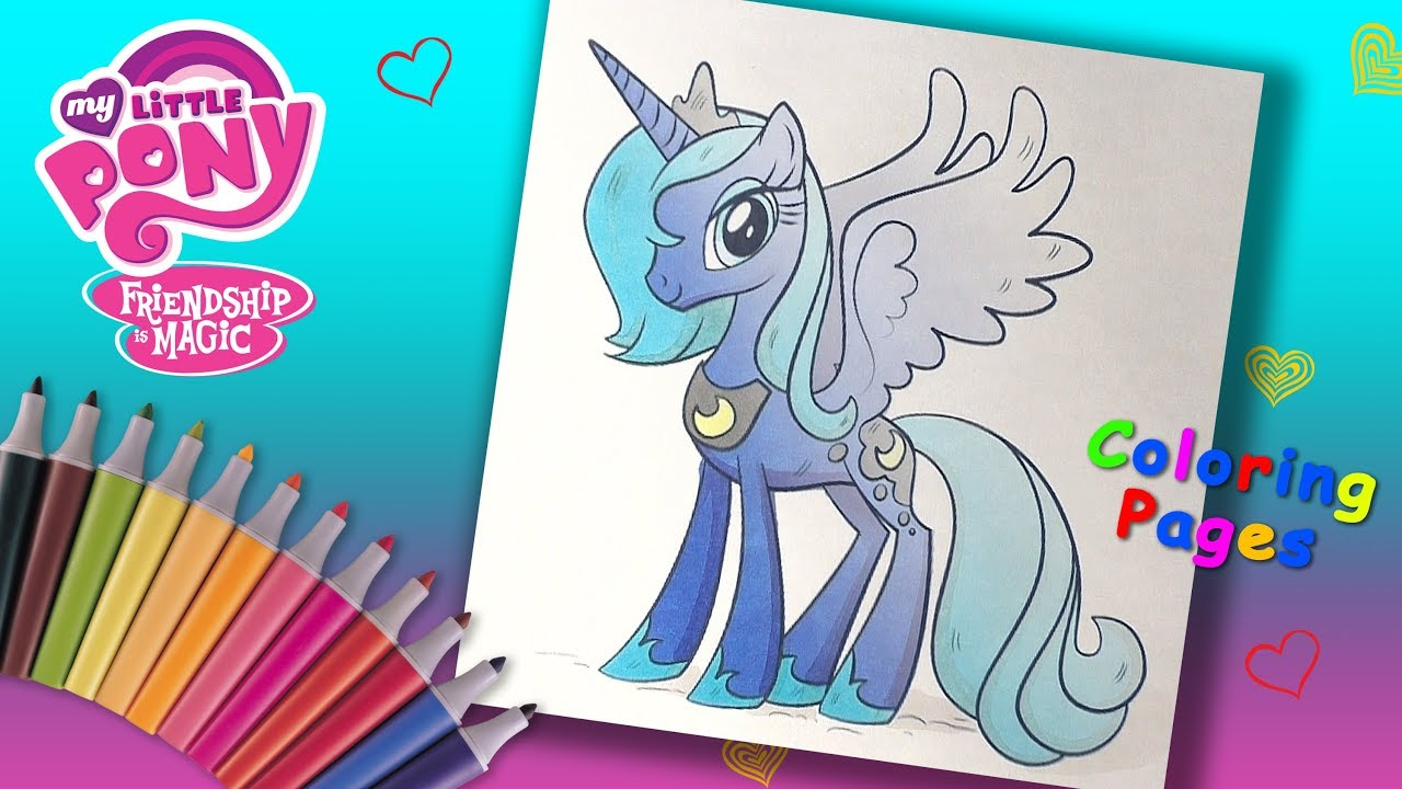 My Little Pony Coloring Pages for Children. Coloring Princess Luna ...