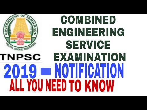 TNPSC COMBINED ENGINEERING SERVICE EXAMINATION 2019