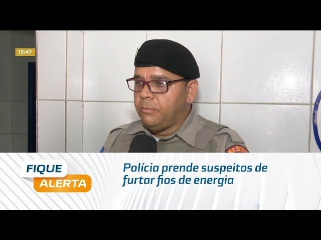 Polícia prende suspeitos de furtar fios de energia em residência no Pinheiro