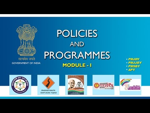 Policies and Programmes of Government of India, Module -1