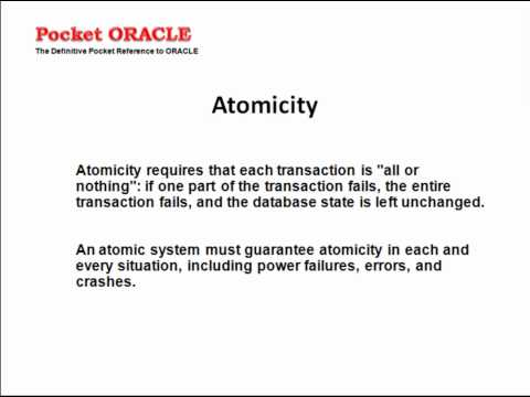 Database Concepts ACID properties Quick Reference Presentation Video