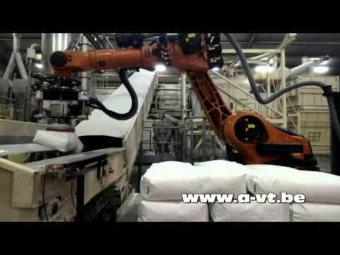 robot ontstapelen zakgoed