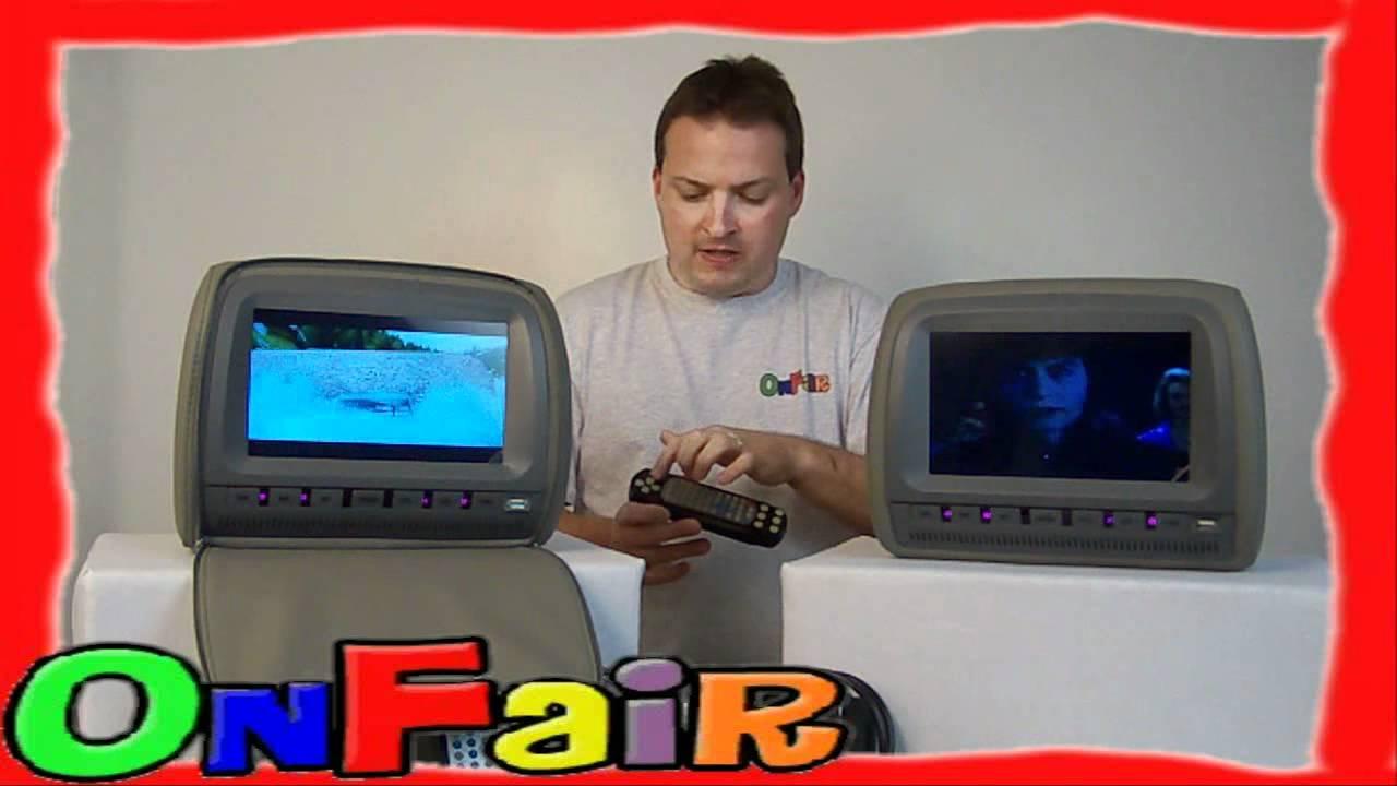 Pair of Headrest DVD Player Monitor Native 32 Bit Game CDs ...