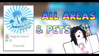 MAGNET ISLAND GETTING ALL PET RARITIES AND PLACES | Roblox Magnet Simulator