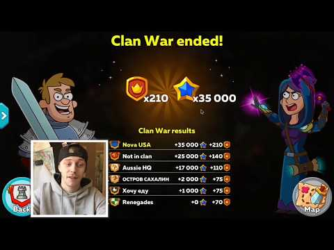 HUSTLE CASTLE  NEW UPDATE CLAN WARS STRATEGY TIPS AND TRICKS TO GET EASY WINS!