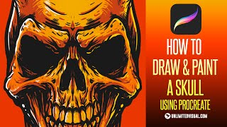 HOW TO DRAW & PAINT A SKULL using PROCREATE (Tutorial)