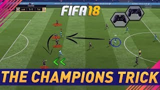 Video THE CHAMPIONS TRICK - EASY & EFFECTIVE MOVE USED BY FIFA 18 PRO's - BEST  ATTACKING MOVE - TUTORIAL download MP3, 3GP, MP4, WEBM, AVI, FLV Juni 2018