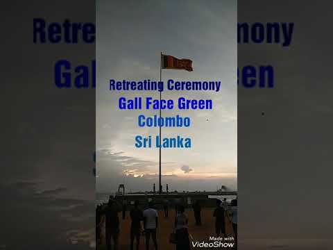 Retreating Ceremony in Gall Face(Colombo) Sri Lanka.
