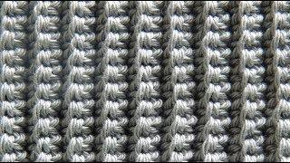 Резинка крючком столбиками без накида