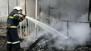 Миколаїв: рятувальники ліквідували пожежу спального приміщення охорони на одному з підприємств міста