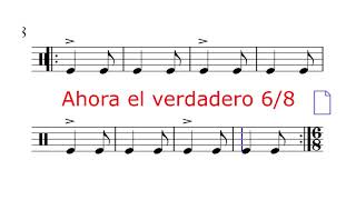 Los compases compuestos. 6/8 - 9/8 - 12/8. Parte 2: Práctica