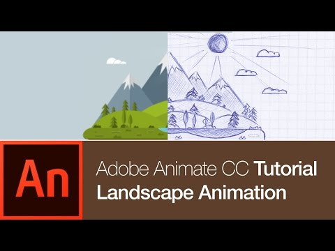 Animate CC Tutorial: Create a Nature Landscape Animation (FREE DOWNLOAD)