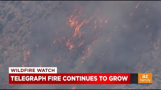 News Update: Telegraph Fire continues to grow