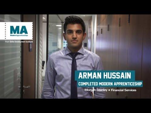 Morgan Stanley Modern Apprenticeships, work, learn and earn