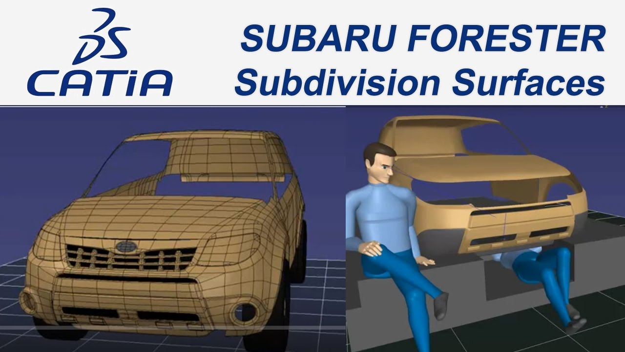 Catia V5 Egitim Car Tutorial 32 Subaru Forester Imagine Shape