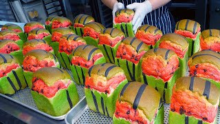 Colorful and cute! Amazing Cube Watermelon Bread