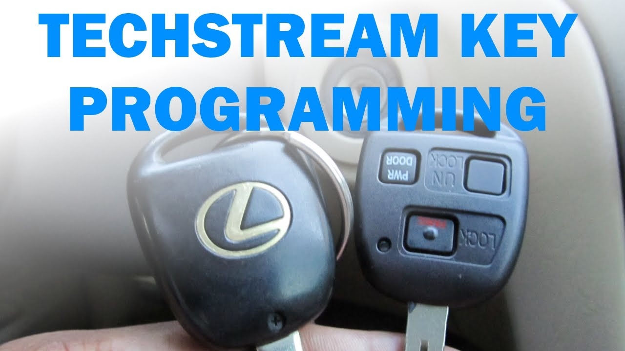Key Immobilizer And Remote Programming Using Toyota Techstream Software Toyota Lexus Youtube