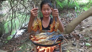 The best food: Cooking Lobster curry with Mushroom and Spicy chili - Survival skills Anywhere Ep 101