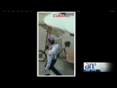 Arrestan violentamente a un conductor de bicitaxi en la Habana