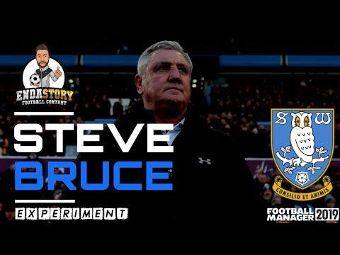 How will Steve Bruce perform as Sheffield Wednesday manager according to FM19?
