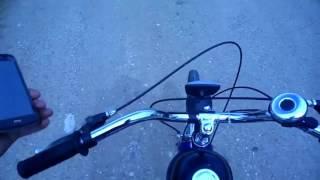 Велосипед с двигателем. Максимальная скорость!