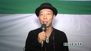 福島インドアテーマパーク建設応援メッセージ EXILE USA.