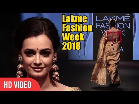 Dia Mirza With Full Traditional Look | Lakme Fashion Week 2018 | LFW 2018 Day 04