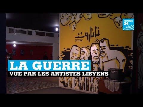 La guerre vue par les artistes libyens à Benghazi - LIBYE