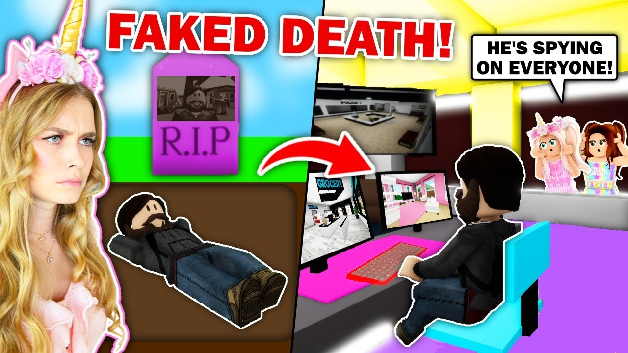 Man In The Picture FAKED HIS DEATH And Is *SECRETLY* Spying On Everyone In Brookhaven! (Roblox)