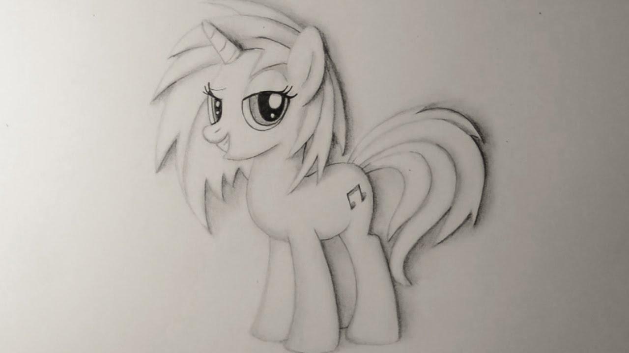 фото карандашом пони