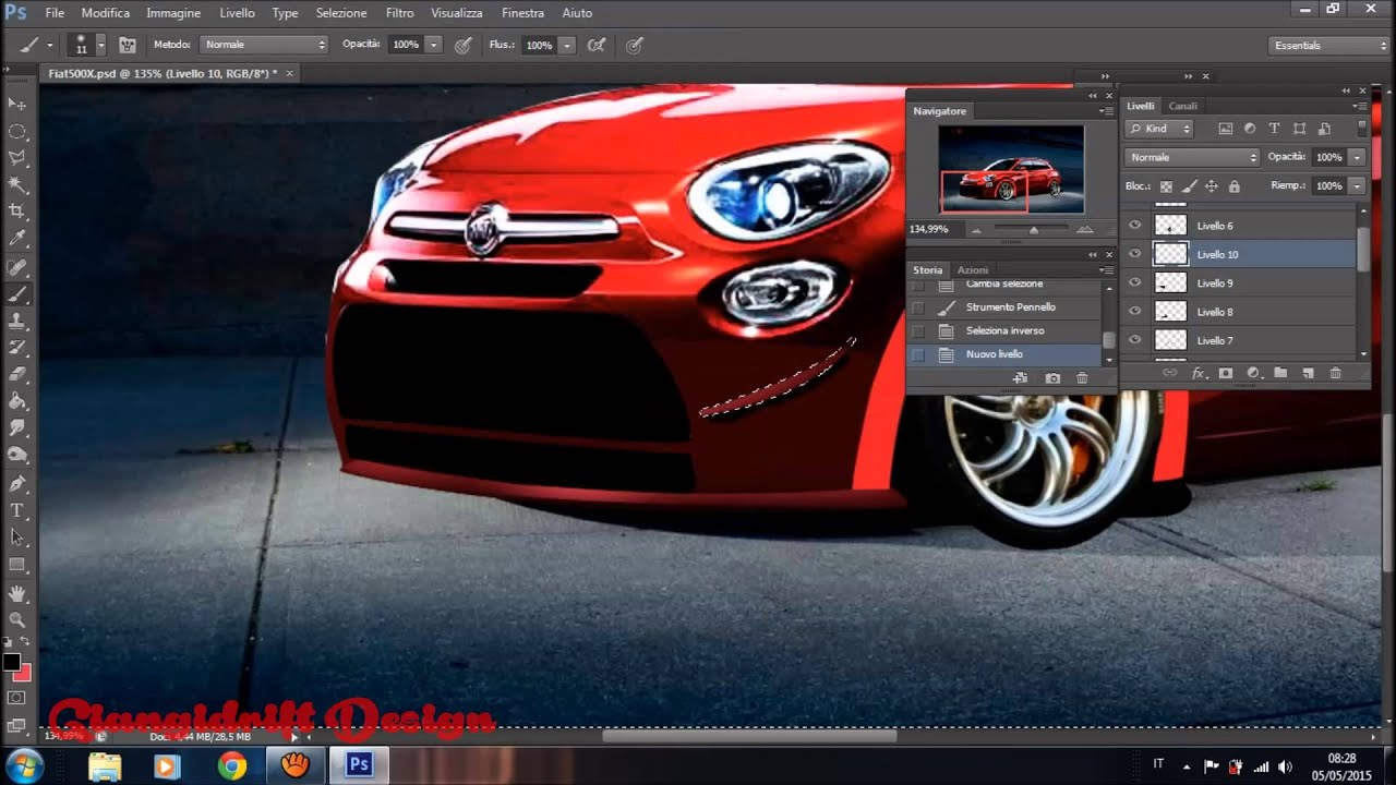 fiat 500x abarth virtual tuning photoshop youtube. Black Bedroom Furniture Sets. Home Design Ideas