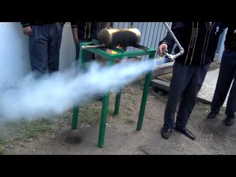 Caldera de vapor casera