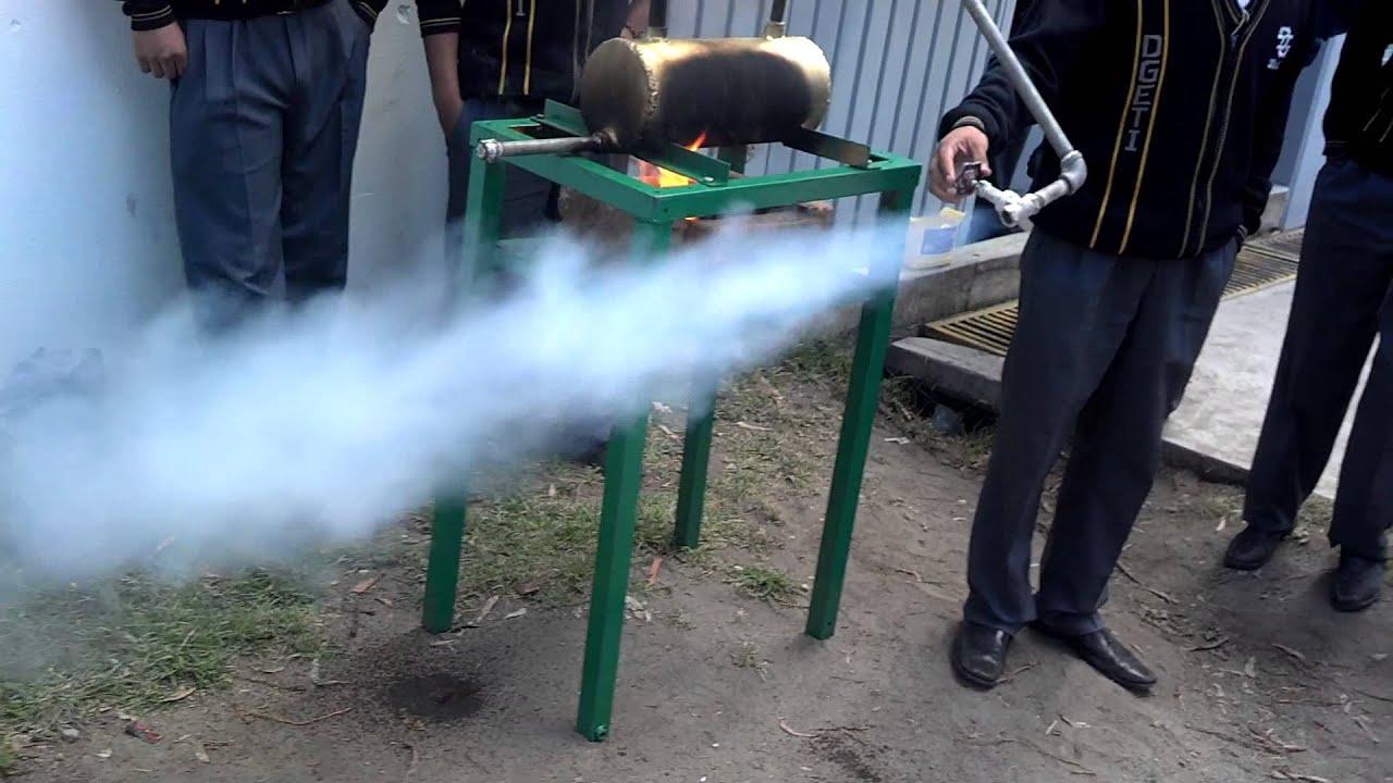 como hacer un generador de vapor casero