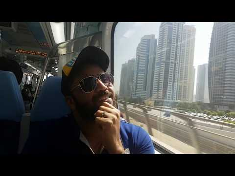 Saudi local first time in dubai metro train