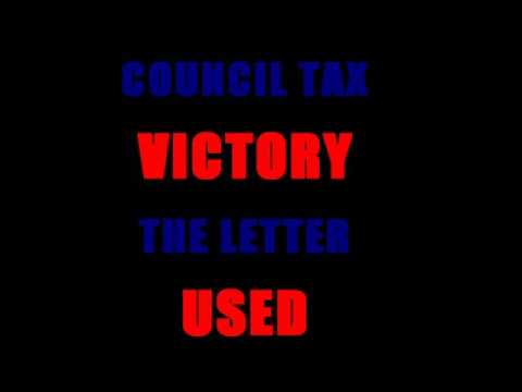 Council Tax VICTORY The Letter USED