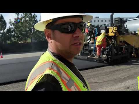 USA - PAVING ROAD CONSTRUCTION PETERBILT & HAMM, GMC TRUCKS - PART 2