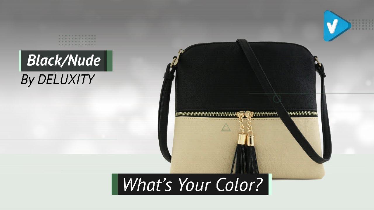 267a4015ec84 Lightweight Color-Block Medium Crossbody Bag With Tassel