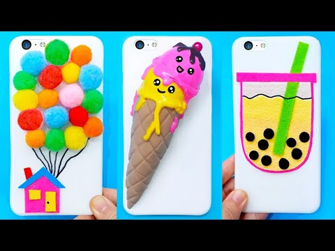10 DIY PHONE CASES #1 | Easy & Cute Phone Projects & iPhone Hacks