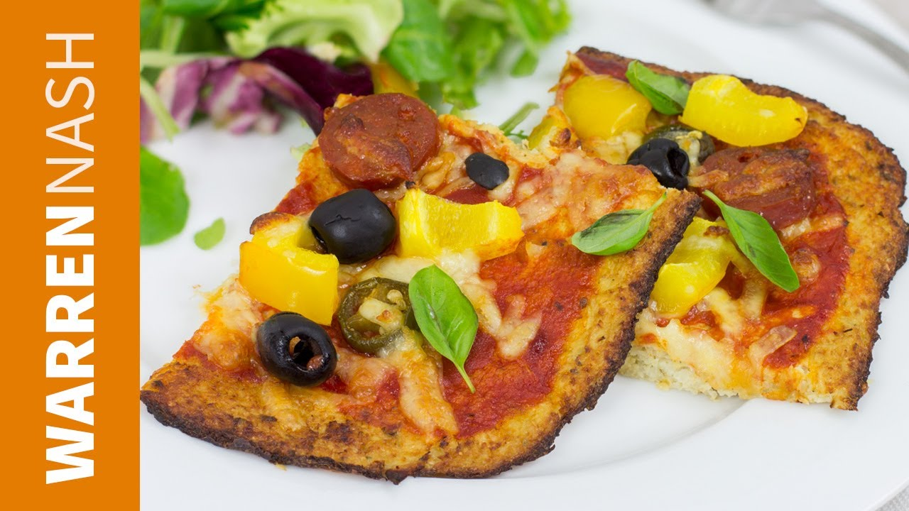 Cauliflower Pizza Crust Recipe Tasty Low Calorie Base Recipes By Warren Nash