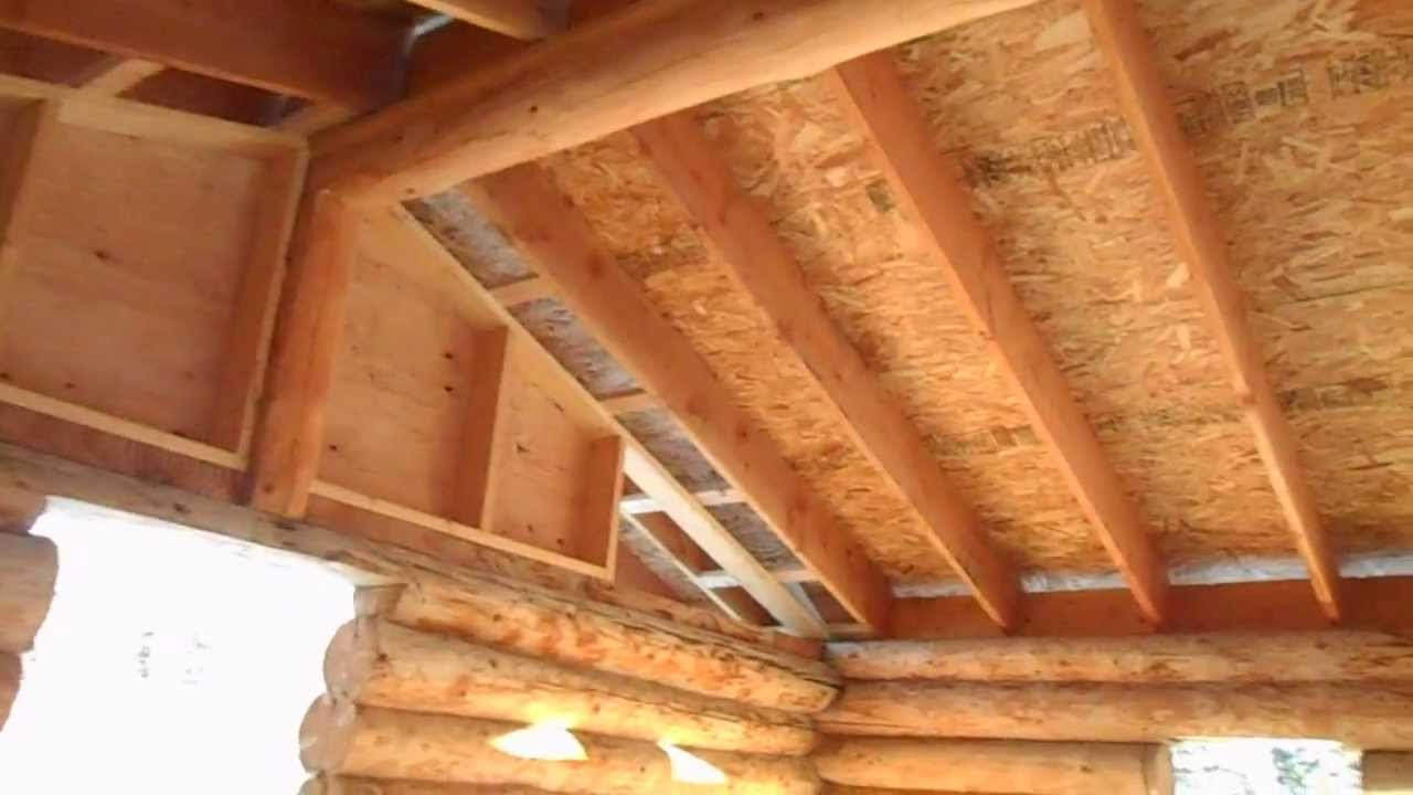 How to frame a roof on a log cabin youtube for 5 structural types of log homes